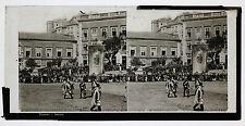 Portugal Lisbonne Procession Photo Plaque stéréo ca 1890