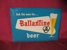 Vintage Embossed Tin Ballantine Beer Sign
