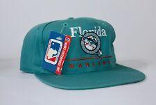 NWT RARE Vintage 90s MLB Florida Marlins Sports TWINS Snapback Cap Hat Teal Tags
