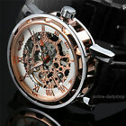 Mens-Skeleton-Mechanical-Wrist-Watch-Steampunk-Luxury-Black-Leather-Stainless