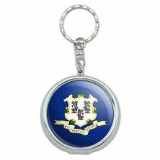 Connecticut State Flag Portable Travel Ashtray Keychain