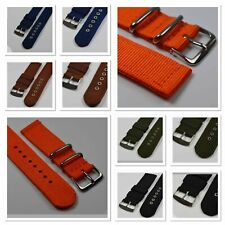 2-teiliges Uhrarmband Textil NATO Retro Nylon Uhrenband NEU 24-22-20-18mm