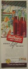 Two 1940's Dr Pepper Ads TENNIS & SAILING Nautical Themes ENERGY Lift