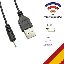 Cable usb Cargador para Tablet android mp3 2.5mm 5v 2A 1m alimentación DC Carga
