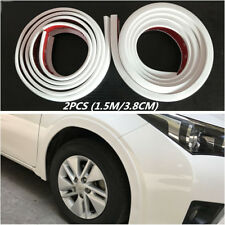 2x Car Wheel Arch Trim Fender Flare Wheel Eyebrow Protector Sticker Strip White