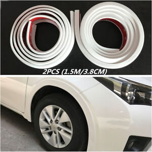 Wheel Arch Trim Fender Flare Car Wheel Eyebrow Protector Sticker Strip White