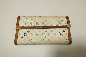 Authentic LOUIS VUITTON  Multi Color Porto Tresol International wallet #8855
