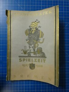Stadttheater Bremen Spielzeit 1927 1928 Jahrbuch To-148