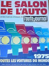 L'AUTO JOURNAL 1975 14 15 SALON DE L'AUTO TOUTES LES VOITURES DU MONDE