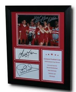 Framed LIVERPOOL 1984 Multi Signed European Cup Signed Autograph Display + COA