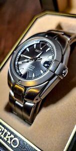 Seiko Perpetual Calendar Watch SLL015 - Titanium - Black Dial - For Repair