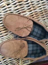 Men's  Slip on Moccasin  slippers Colour Tan Size uk 11  Excellent Condition