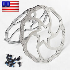 MTB Bike 160mm,180mm Disc Brake Rotor Bicycle 6 Bolts Rotor Caliper Stainless US