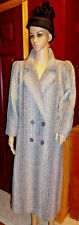 Miss New Yorker Women's Coat Wool Blend 50s Greys Doublebreasted Houndstooth