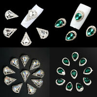10Pcs 3D Rhinestone Crystal Alloy DIY Decoration Tips Nail Art Glitter Charms