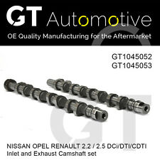 CAMSHAFT SET FOR NISSAN OPEL RENAULT 2.2 2.5 DCi DTI CDTI 8200019181 8200019183