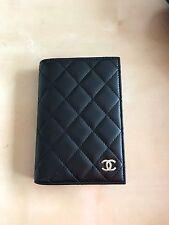 Rare Chanel Black Lambskin Classic Passport Holder, Wallet, Agenda