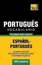 Vocabulario Español-Portugués - 7000 Palabras Más Usadas by Andrey Taranov...