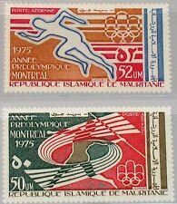 MAURITANIA MAURETANIEN 1975 518-19 C154-55 Pre Olympic Year Sport Javelin MNH