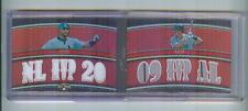 2010 TRIPLE THREADS #TTRDC-1 ALBERT PUJOLS & JOE MAUER 6-JERSEY SP #34/36, TWINS