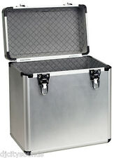 "2x Deluxe  Aluminium 12"" Vinyl Lp  Record Carrying Cases Storage Box 100 Total"