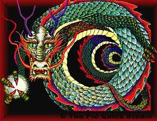 Curled Chinese Dragon Fridge Magnet - Fantasy/Myth