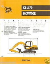 Equipment Brochure - JCB - JS70 - Excavator - 1999 (EB390)