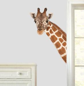 Giraffe Head Wall Art Stickers Living Dining Hallway Room African Safari Decal