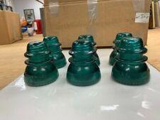 Hemingray Telephone Pole Insulators, #42 Green Glass