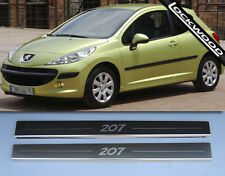 Peugeot 207 Stainless Sill Protectors Kick plates Sills