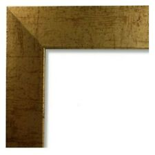 "Us Art Frames Antique Gold 1.25"" Flat Elegant Mdf Picture Frames, Custom Sizes B"