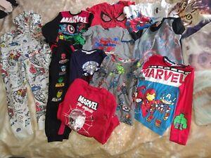 Boys Clothes Bundle Size 6-7 Years. Marvel Superheros. Tracksuit. T shirts.