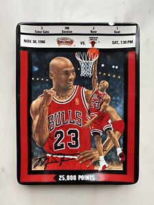 1997 Michael Jordan UPPER DECK 25,000 Points Collectible Plate #551A - FLAW