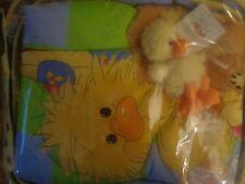 New LITTLE SUZY'S ZOO 3 Piece Crib Set WITZY'S TREASURES Plush Comforter Bumper+