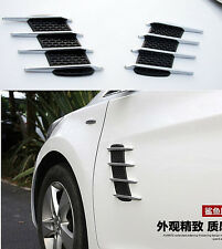 2x AUTO ACCESSORY DECORATION Simulation Shark Gill Air Inlet Car Side 3D Decals