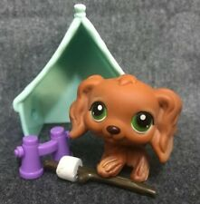 Littlest Pet Ship Cocker Spaniel dog #252 with accessories. AUTHENTIC.