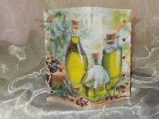 1 Deko Windlicht Oliven Olivenölflaschen  Tischlicht Geschenkidee Mitbringsel