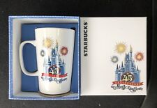 Disney Starbucks Coffee Tea Cup 45th Anniversary Magic Kingdom Retired