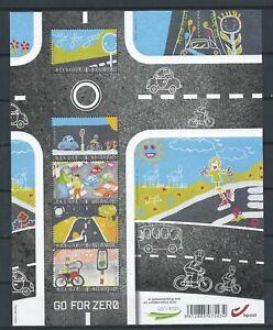 BELGIUM 2013 go for zero road safety M/S MNH**  BLOK 204