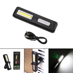 COB LED Magnetic Work Light USB Rechargeable Inspection-Lamp Hand Torch Cordless