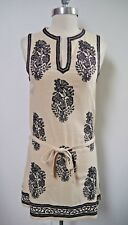 NEW ISABEL MARANT ETOILE off-white black embroidered dress long tunic size 34