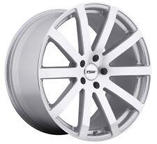 17x8 TSW Brooklands 5x112 Rims +45 Silver Wheels (Set of 4)