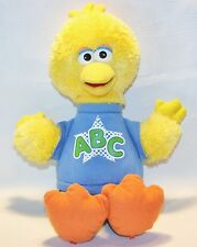 "Rockin' ABC BIG BIRD Hasbro SESAME STREET TALKING DOLL Plush Stuffed Animal 14"""