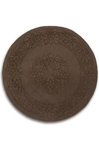 Royale Plain Brown Round / Circle Handmade 100% Wool Rugs By Plantation 4' Dia