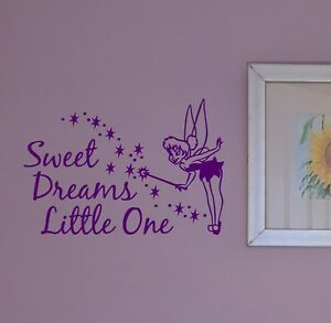 Tinkerbell Fairy Sweet Dreams Little One Disney Room/Wall/Nursery Vinyl Sticker
