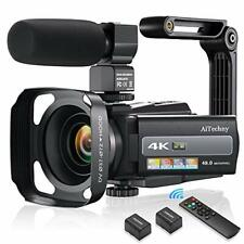 4K 60FPS Video Camera Camcorder Ultra HD 48MP Digital WiFi Black