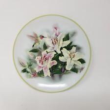 Lena Liu Hummingbird and Lilies Collectible Decorative Plate Teleflora Gift