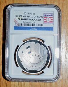 2014-P $1 Baseball Hall of Fame  UC  (Proof) - NGC PF 70 Ultra Cameo
