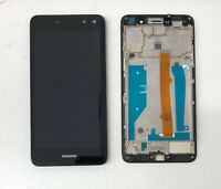 New Huawei Y6 2017 Touch Screen Digitizer LCD Display Assembly Frame Black