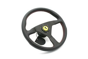 MOMO Montecarlo Leather Steering Wheel 350mm With Hub Kit fits Ferrari F355